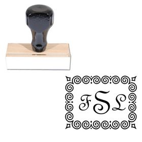 Fench Script Custom Made Wedding Monogram Stamp