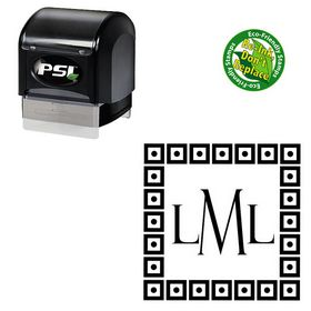 PSI Pre-Inked Felix Titling Personal Initials Stamp