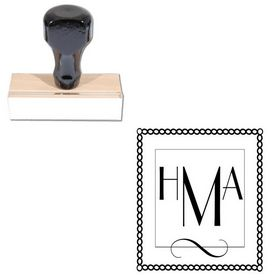 Parisian Custom Made Monogrammed Rubber Stamp