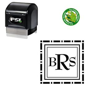PSI Pre Ink BernhardMod Monogram Rubber Stamp