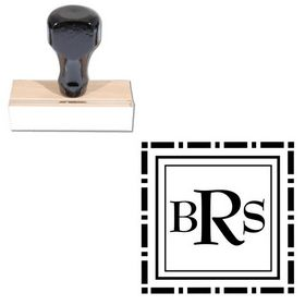 BernhardMod Monogram Rubber Stamp