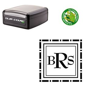Portable BernhardMod Monogram Rubber Stamp