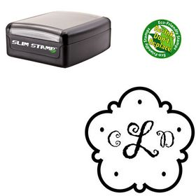 Slim Pre Ink Gigi Custom Made Round Monogram Stamp