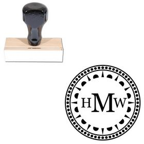 Round Georgia Personalized Monogram Stamper