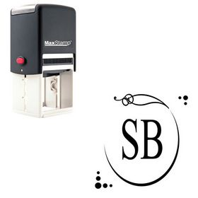 Self Inking Maiandra Personal Monogrammed Stamp