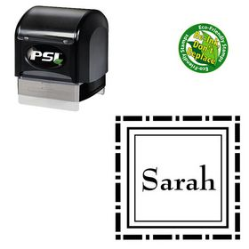 PSI Pre Ink Bernhard Mod Custom Made Square Monogram Stamp