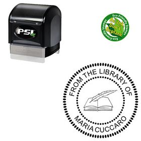 PSI Arial Round Rubber Stamp