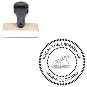Arial Round Rubber Stamp