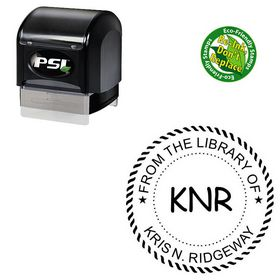 PSI Pre-Inked Comic Sans Monogram Stamp