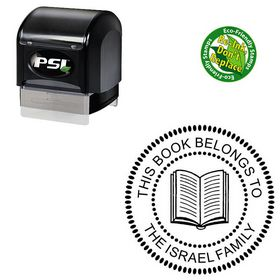 PSI Pre Ink Arial Customized Round Monogram Stamp