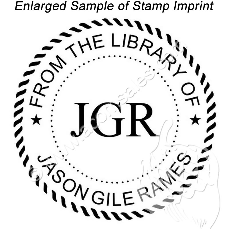 times new roman personal initial stamp rubber stamp