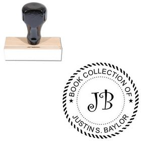 Curlz Personal Round Rubber Stamp
