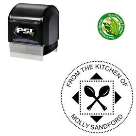 PSI Pre-Inked Arial Custom Made Monogramed Stamp