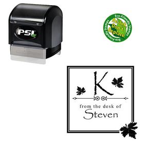 PSI Pre Inked Papyrus Custom Made Initial Address Stamp