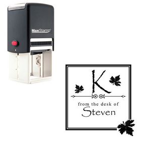 Self Inking Papyrus Custom Made Initial Address Stamp