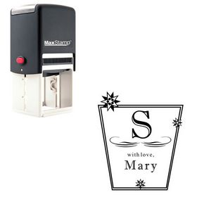 Self-Inking Imprint Shadow Personalized Monogram Rubber Stamp