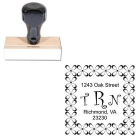 Curlz Monogram Address Stamp