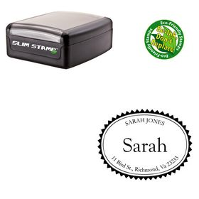 Slim Goudy Old Style Customized Name Stamp