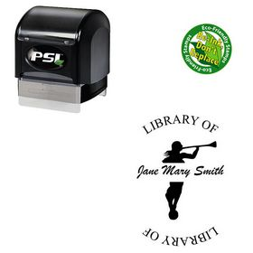 PSI Pre-Ink Brush Script Personal Round Monogram Stamp