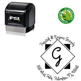 PSI Pre-Ink Jandles Personalized Monogram Rubber Stamp