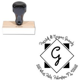 Jandles Personalized Monogram Rubber Stamp