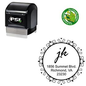 PSI Pre Ink Rage Italic Personalized Monogramed Stamp