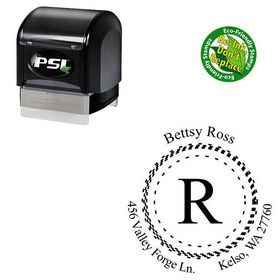 PSI Pre-Inked Mongolian Baiti Customized Monogram Stamp