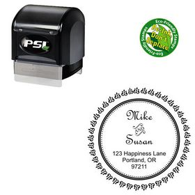 PSI Pre-Ink French Script Personalized Monogramed Stamps