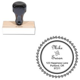 French Script Personalized Monogramed Stamps