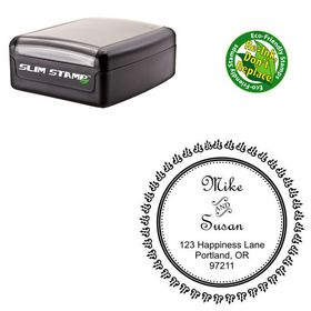 Compact French Script Personalized Monogramed Stamps