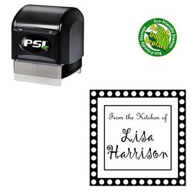 PSI Pre Ink Gigi Customized Square Monogram Stamp