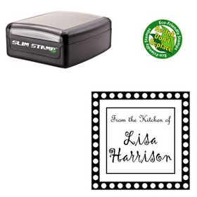 Slim Gigi Customized Round Monogram Stamp