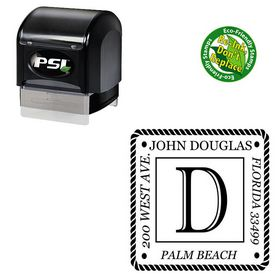 PSI Pre Inked Imprint Shadow Customized Rubber Initial Stamp