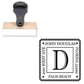 Imprint Shadow Customized Rubber Initial Stamp