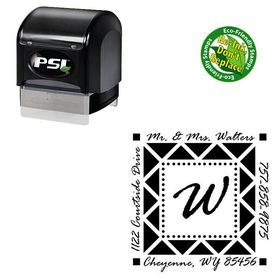 PSI Pre Ink Rage Italic Personalized Monogram Address Stamp
