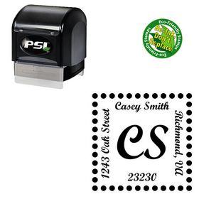 PSI Pre Ink Script Bold Customized Monogrammed Rubber Stamp