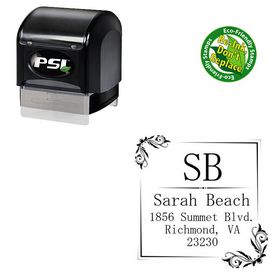 Pre Inked Mincho Personalized Monogramed Stamp