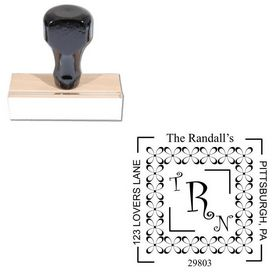 Curlz Personalized Wedding Monogram Stamp