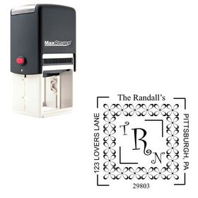 Self-Inking Curlz Personalized Wedding Monogram Stamp