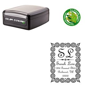 Portable French Script Customized Monogramed Stamp