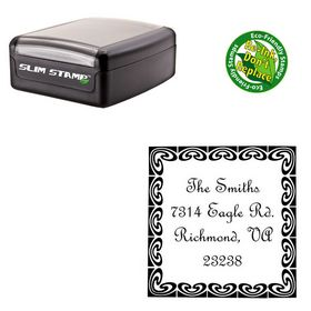 Slim French Script Custom Monogram Address Stamp