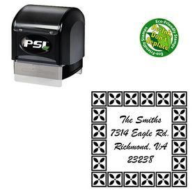 PSI Pre Ink Brush Script Personal Monogram Address Stamp