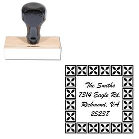 Brush Script Personal Monogram Address Stamp