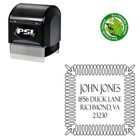 Pre-Inked Felix Titling Personalized Address Monogram Stamp