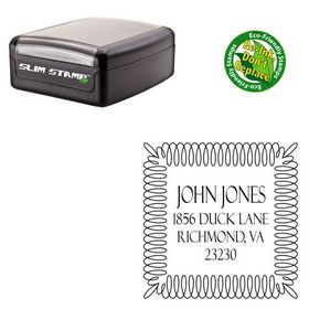 Slim Pre-Inked Felix Titling Personalized Address Monogram Stamp
