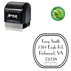 PSI Pre Inked Parisian Custom Made Address Monogram Stamp