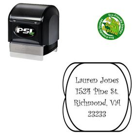 PSI Pre-Ink Curlz Personalized Name Stamp