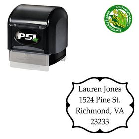 Pre-Ink Palatino Linotype Personalized Monogram Stamp