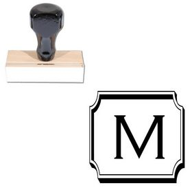 Copperplate Gothic Light Monogram Rubber Stamp