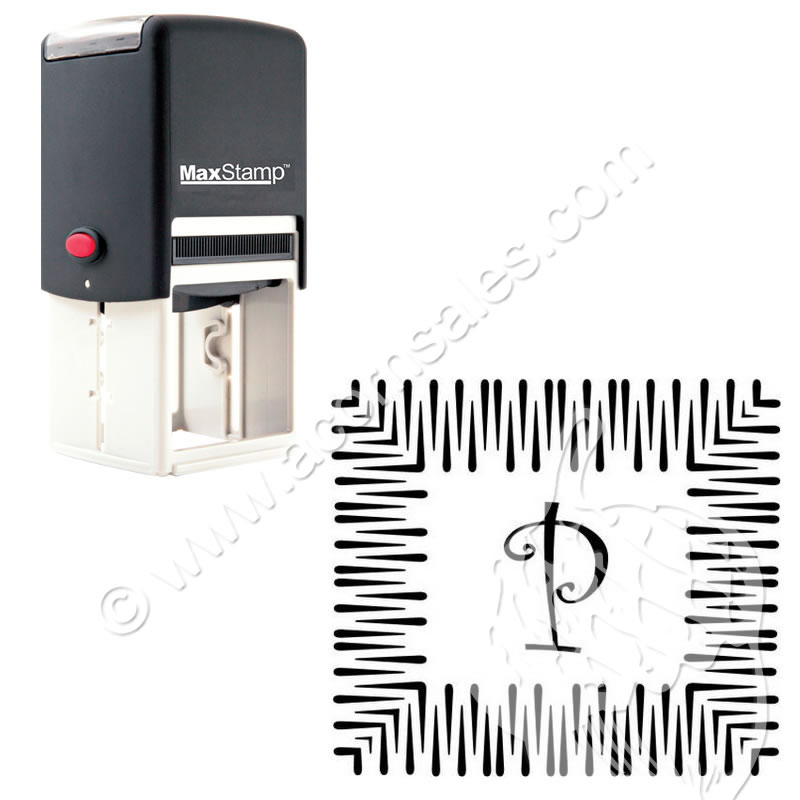 curlz self inking rubber stamp custom initial rubber stamp